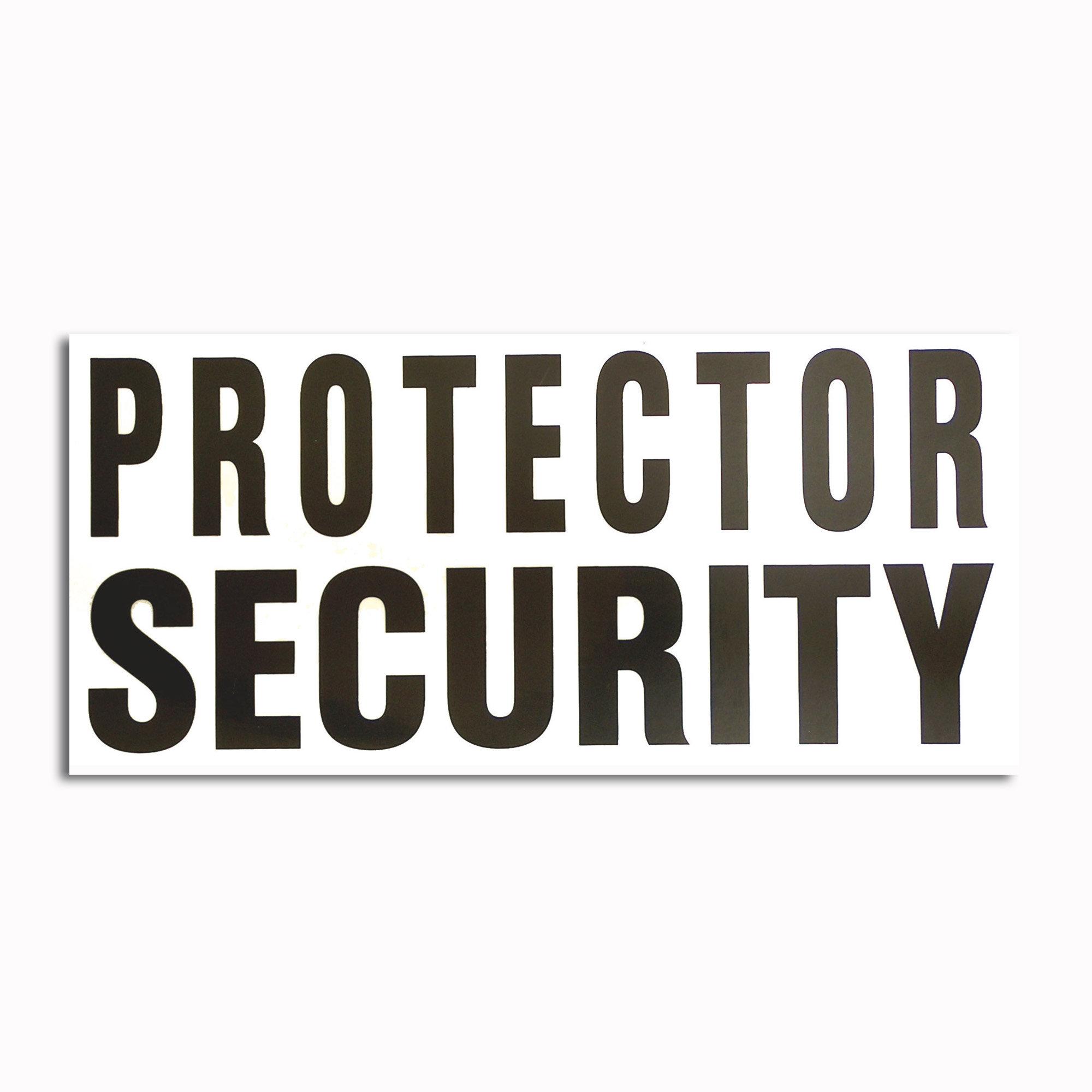 Autocollant transparent Protector Security