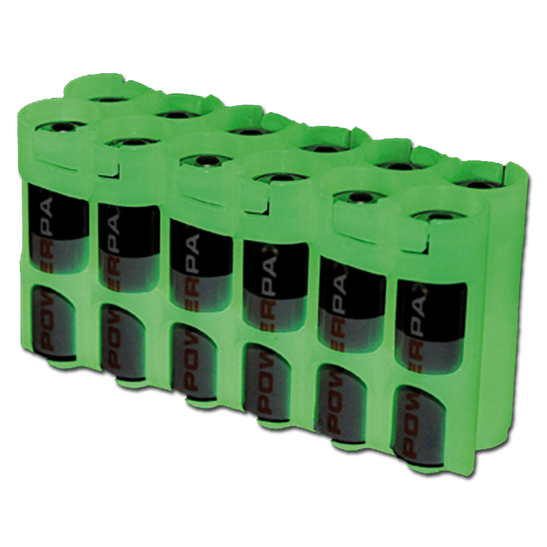 Porte batteries Powerpax 12 x AA luminescent