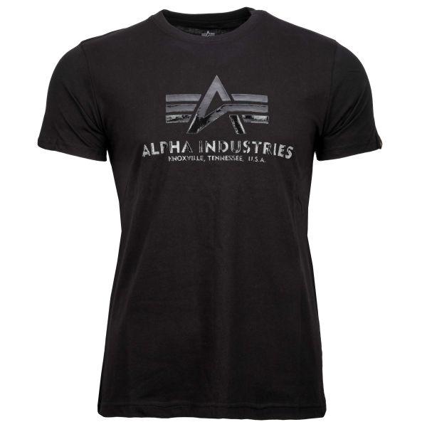 Alpha Industries T-Shirt Vinyl Logo T black