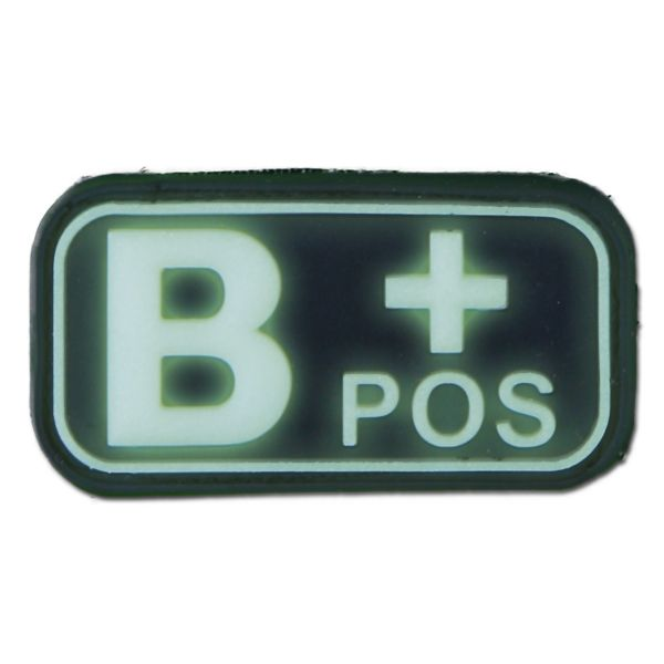 Patch 3D groupe sanguin B Pos luminescent