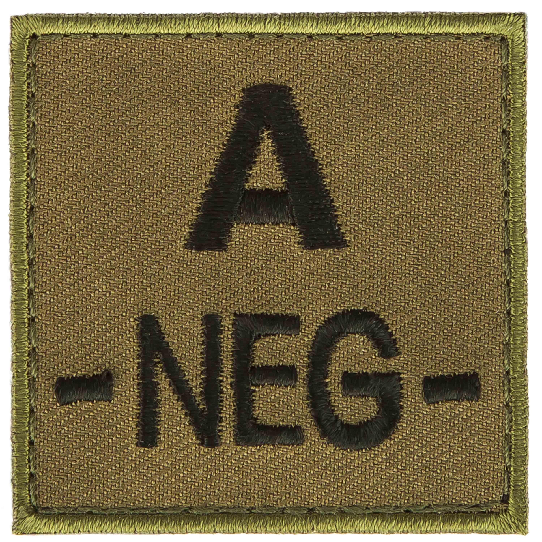 T.O.E Patch groupe sanguin A négatif vert