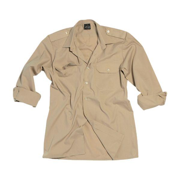 Chemise de service à manches longues beige