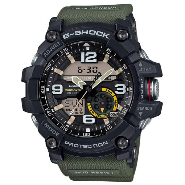 Casio Montre G-Shock Mudmaster GG-1000-1A3ER noir olive