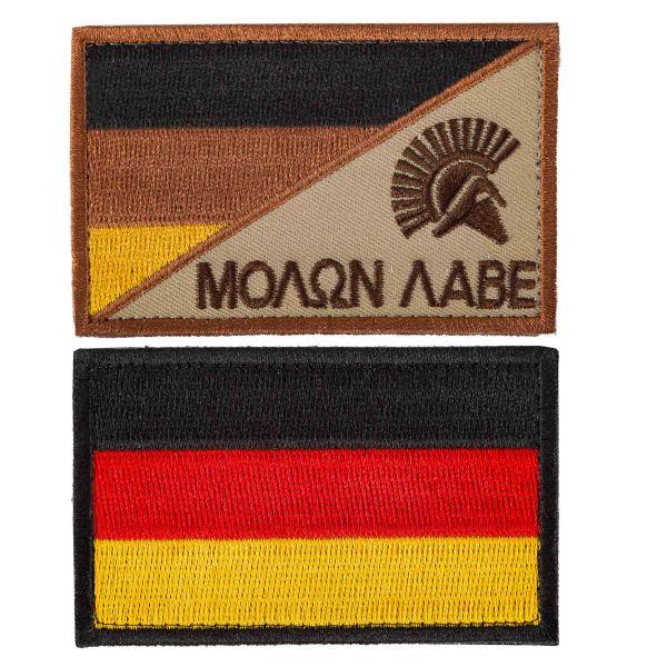 TacOpsGear Patch Set Molon Labe & drapeau allemand 2 pièces