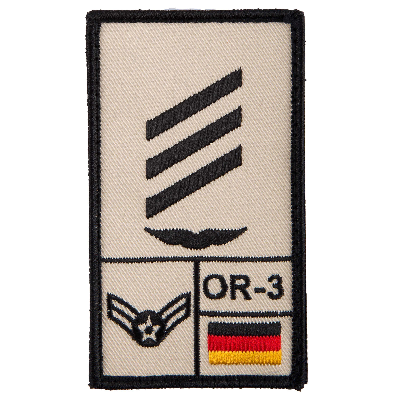 Café Viereck Patch Grade Hauptgefreiter Luftwaffe sable
