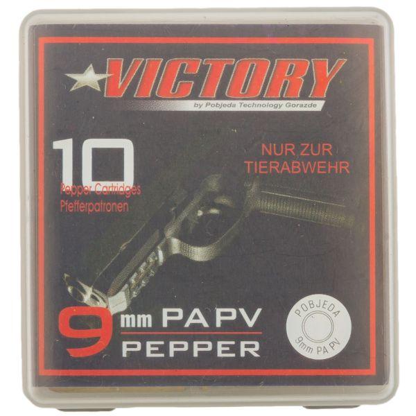 Victory Cartouche au Poivre cal. 9 mm 10 pièces