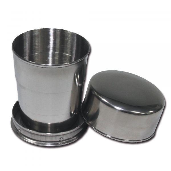 Tasse pliante acier inoxydable 15 cl