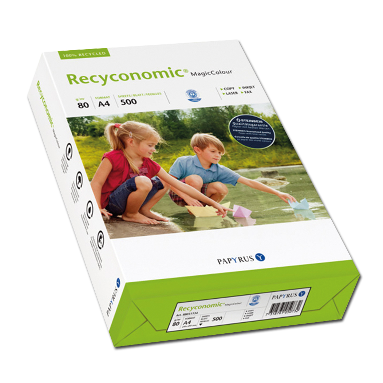 Papier couleur recyclé A4 bleu 80 g / m² 500 feuilles