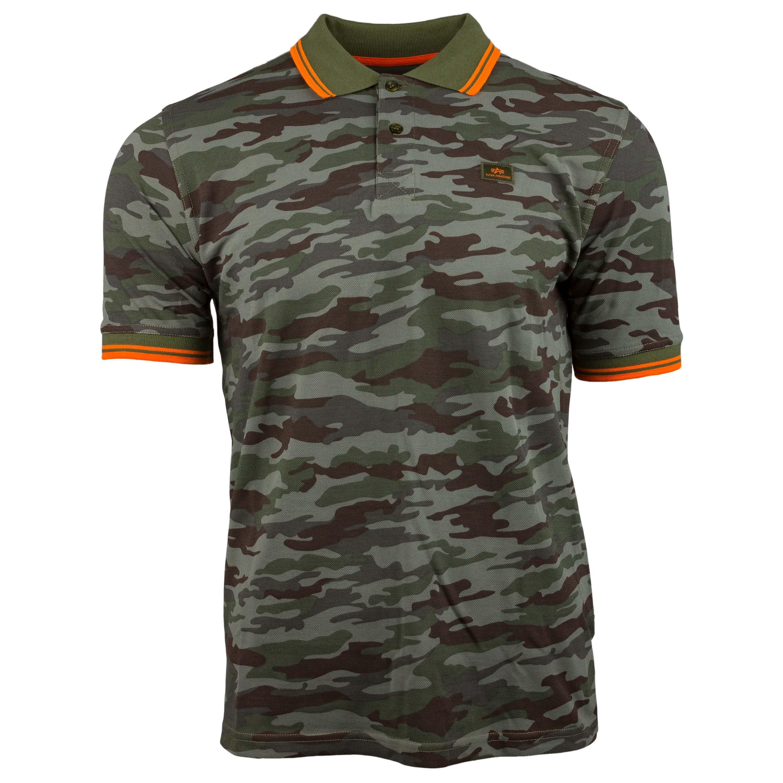 T-shirt Twin Stripe Polo Alpha Industries woodland