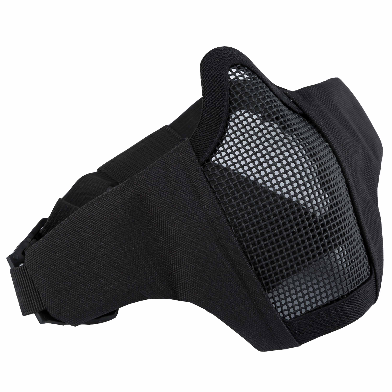 Invader Gear Masque grillagé Mk.II Steel Half Face Mask noir