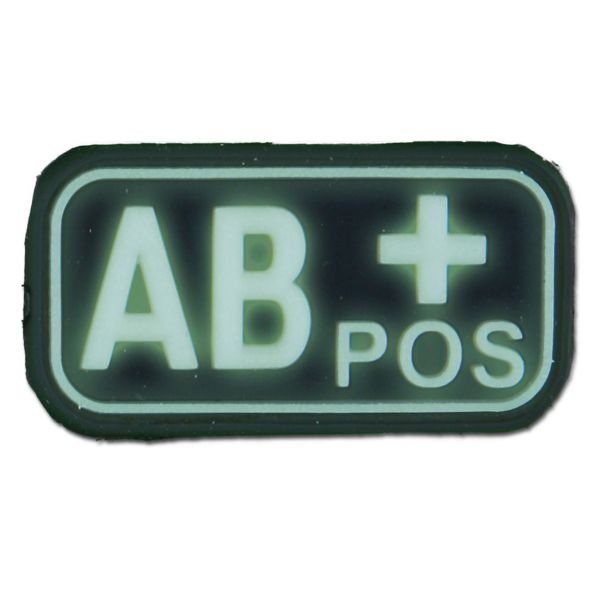 Patch 3D groupe sanguin AB Pos luminescent
