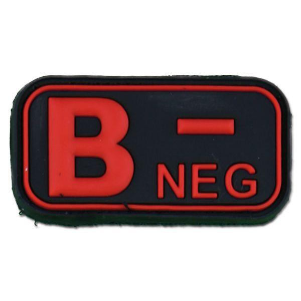 Patch 3D groupe sanguin B Neg blackmedic