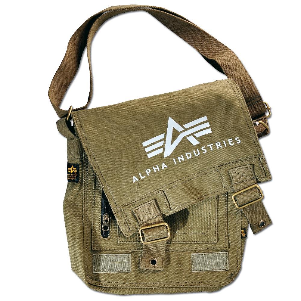 Alpha Industries Big A Canvas Utility Bag kaki