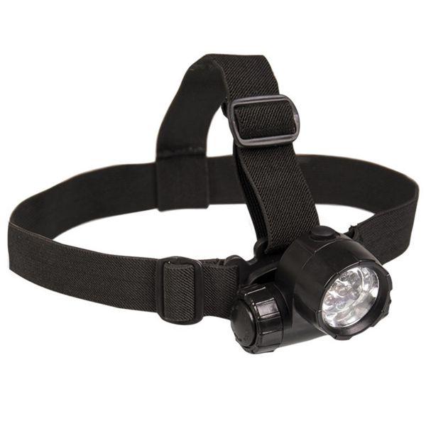 Mil-Tec Lampe frontale 6 LED plus 1 noir