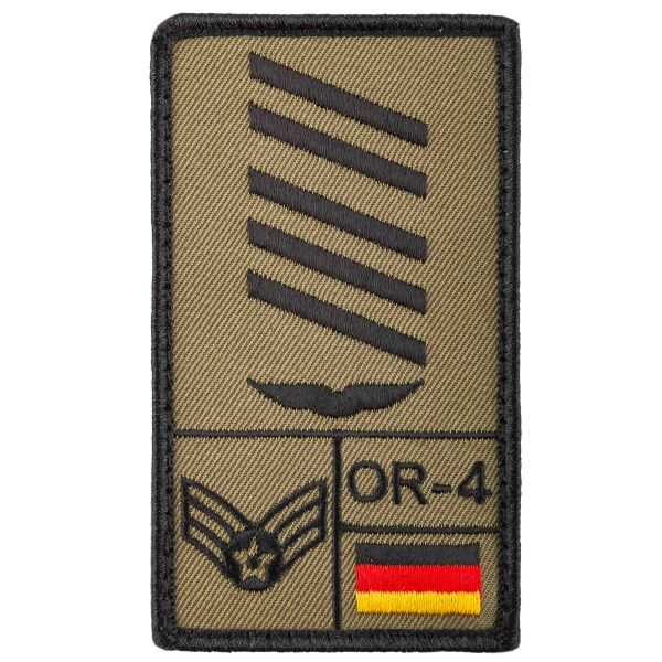 Café-Viereck Patch Grade Oberstabsgefreiter Luftwaffe olive