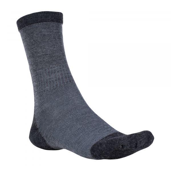 Woolpower Chaussettes Skilled Liner Classic gris foncé noir