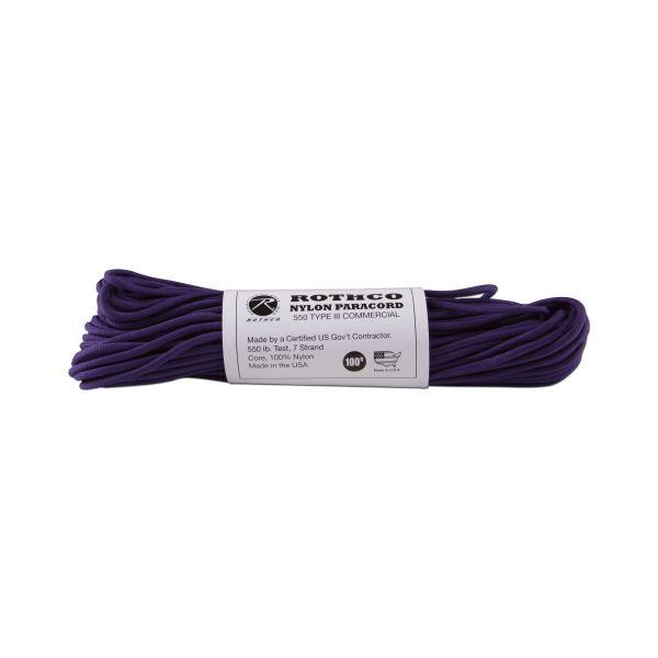 Paracorde 550 lb violet 100 ft. Nylon