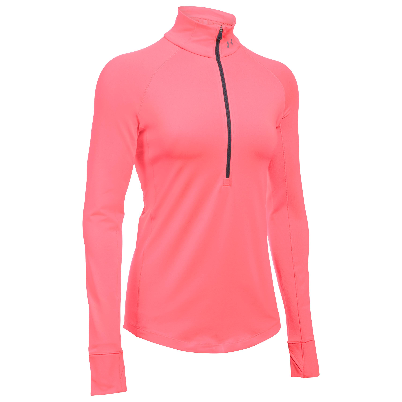 Under Armour Shirt Femme ColdGear avec zip rose