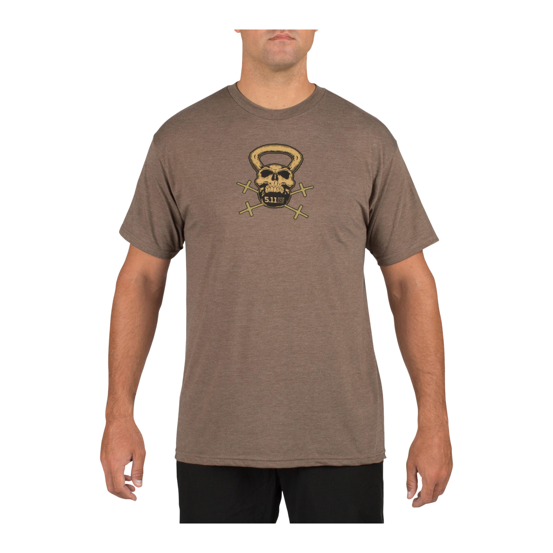 T-Shirt Recon Skull 5.11 brun