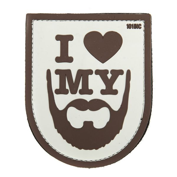101 Inc. Patch 3D I love my Beard brun