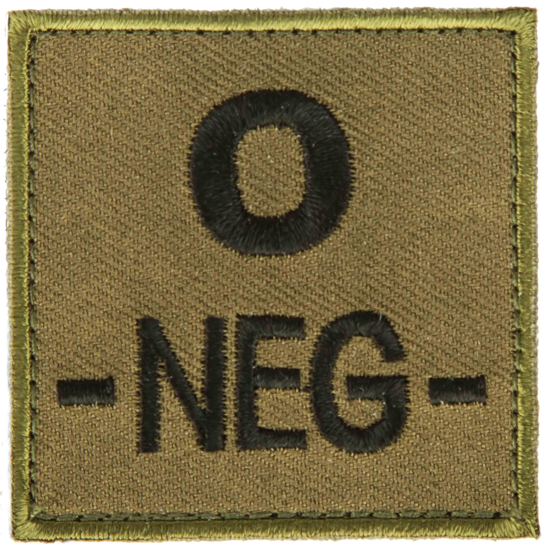 Acheter T O E Patch Groupe Sanguin O Negatif Vert Chez Asmc