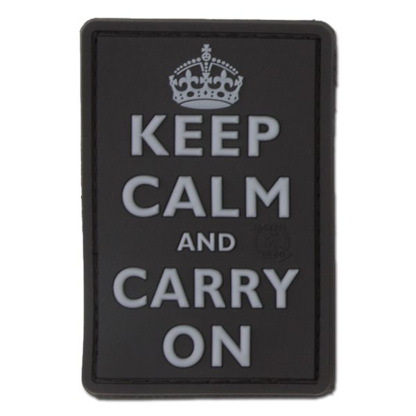Patch 3D Keep Calm and Carry on swat