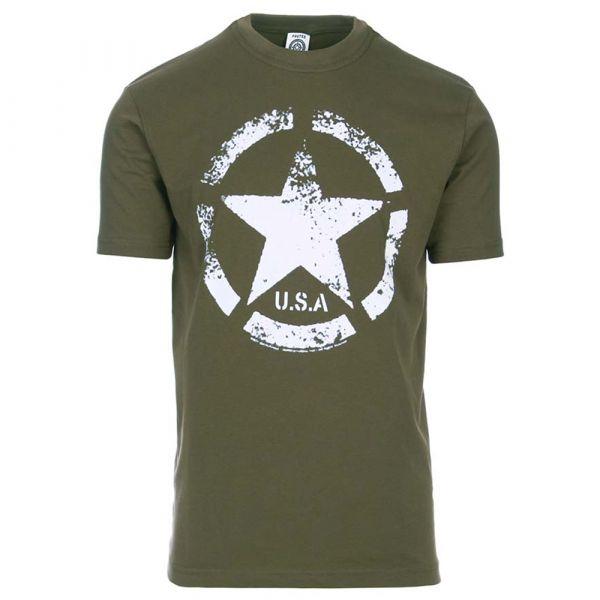 Fostex Garments T-Shirt U.S. Army Vintage Star olive