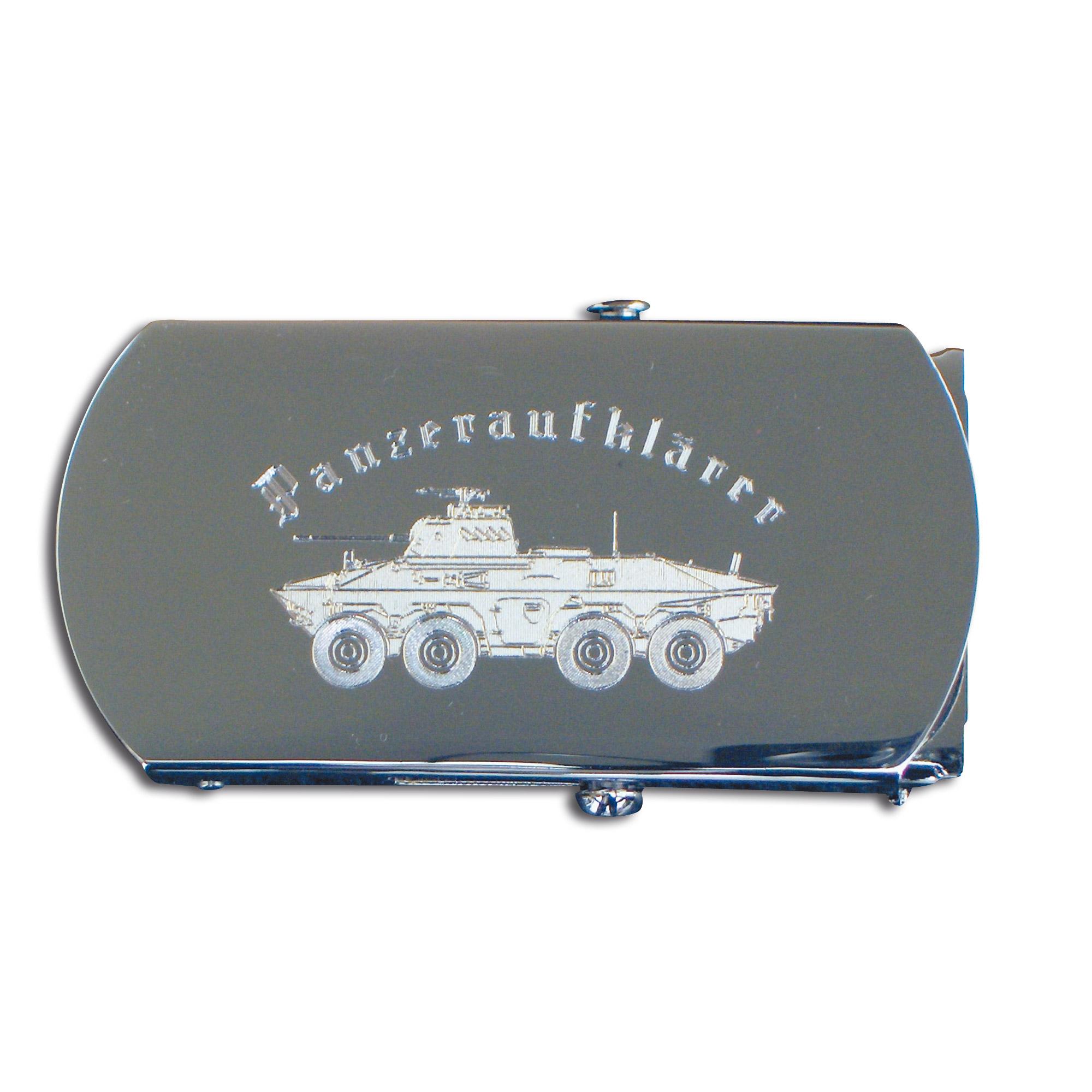 Ceinture avec boucle gravé Panzeraufklärer