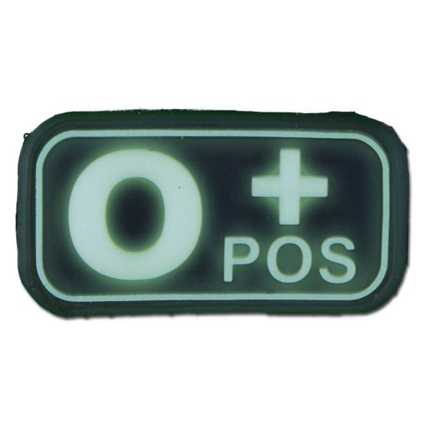 Patch 3D groupe sanguin O Pos luminescent