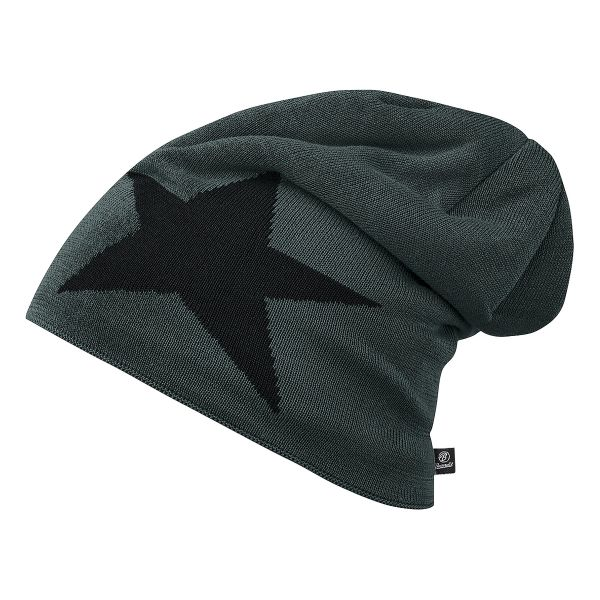 Brandit Bonnet Jersey Star gris et noir