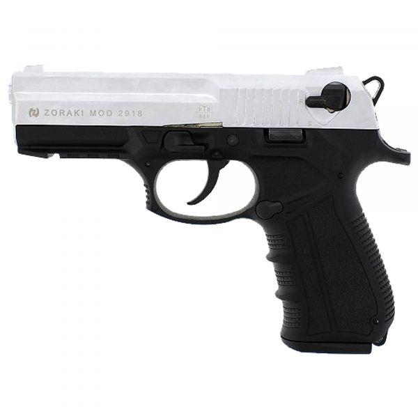 Zoraki Pistolet d'alarme 2918 chrome mat