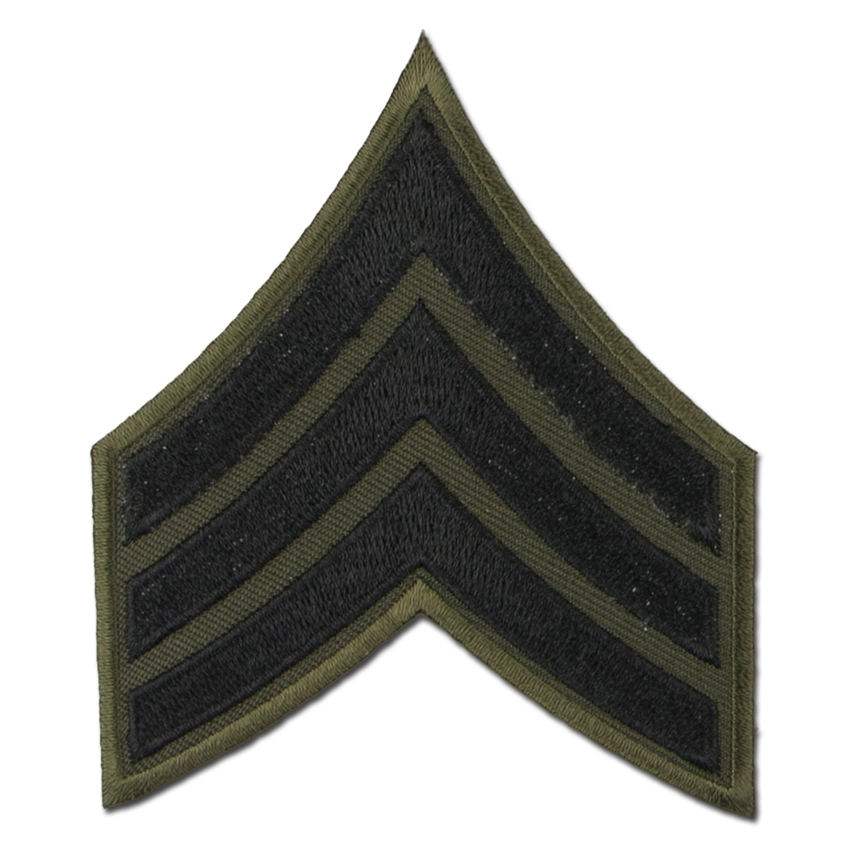Grade US Sergent tissu noir