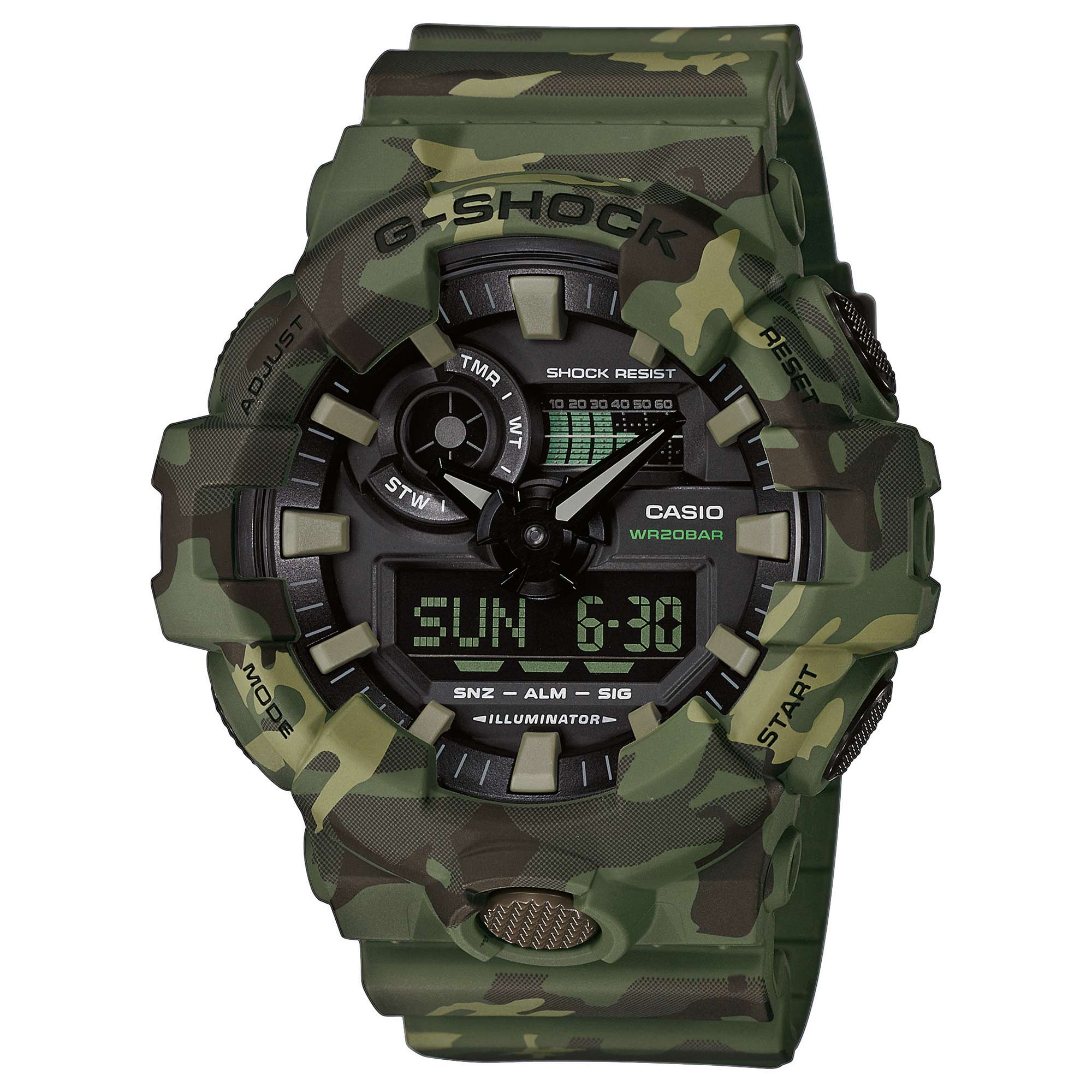 Casio Montre G-Shock Classic GA-700CM-3AER woodland