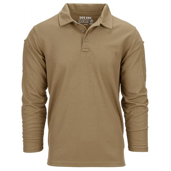 101 Inc. Polo Tactical Quickdry long coyote