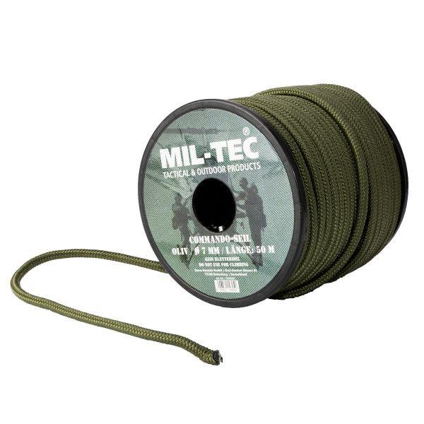 Corde Commando olive 7 mm, 50 m