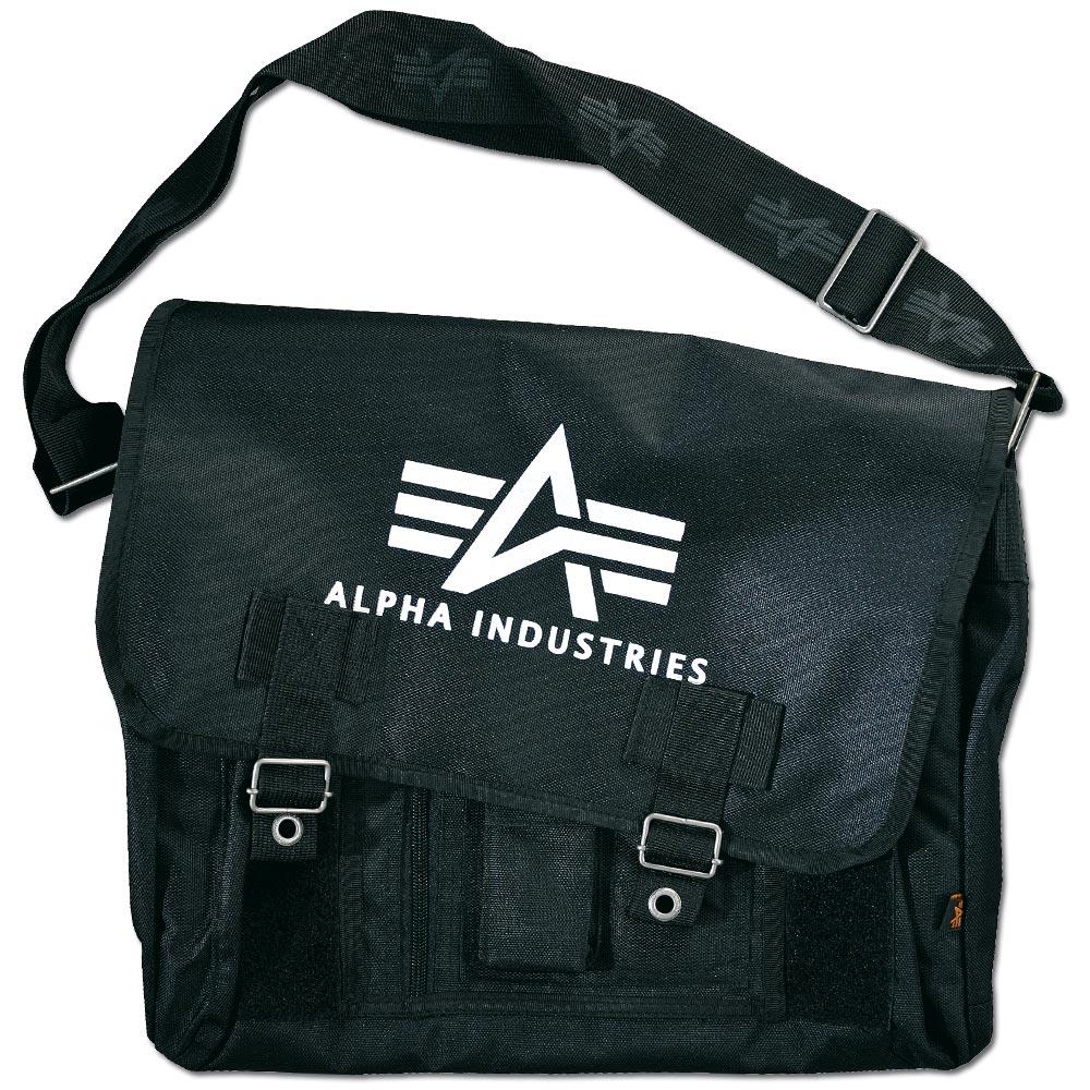 Alpha Industries Big A Oxford Courier Bag black