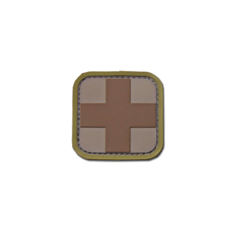 Patch MilSpecMonkey Medic Square 5 cm PVC desert