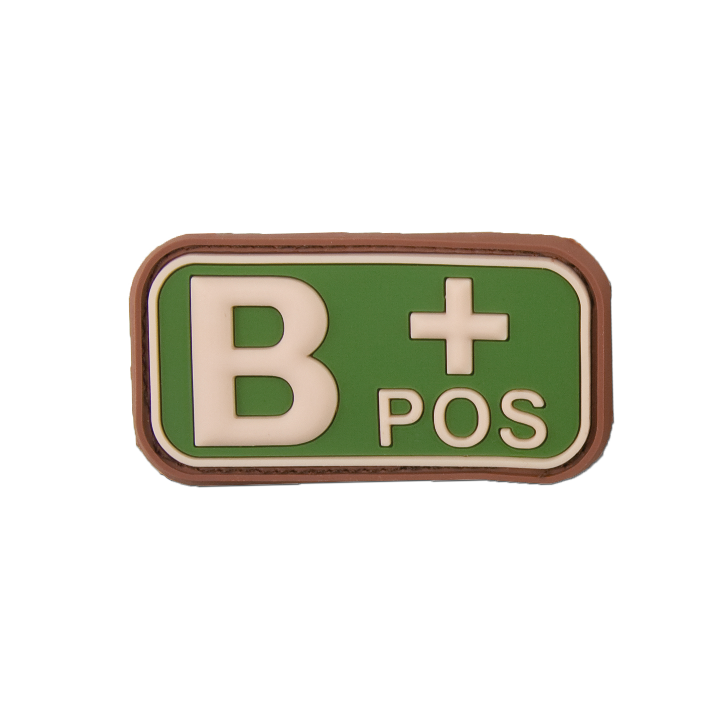 Patch 3D groupe sanguin B Pos multicam