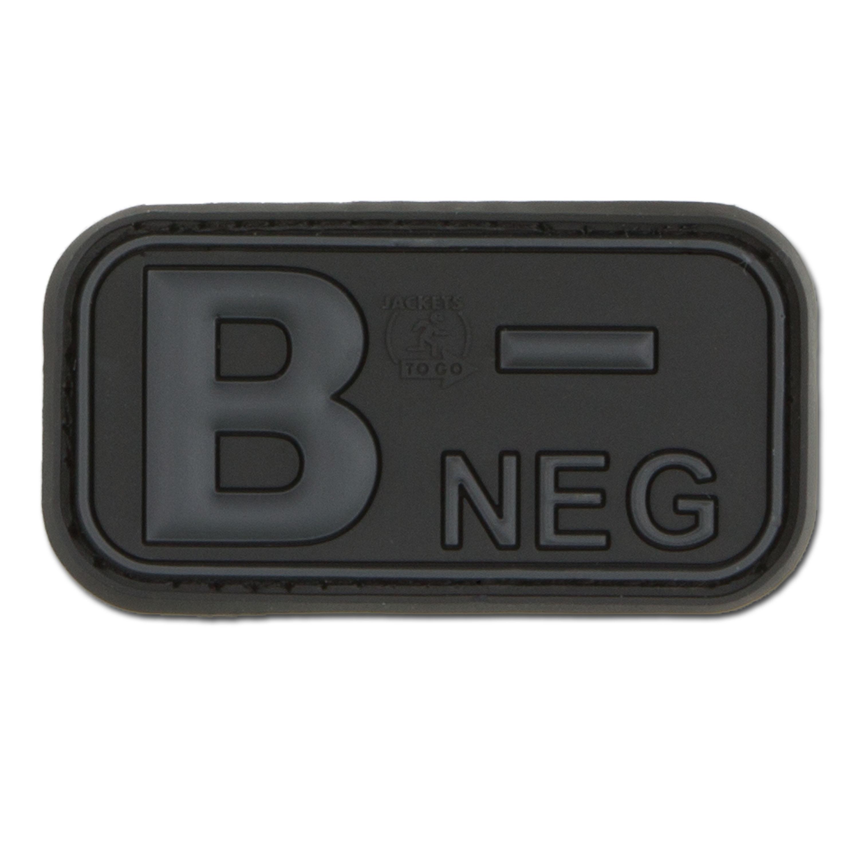 Patch 3D groupe sanguin B Neg blackops