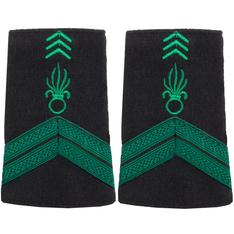 Fourreaux Tissu Caporal Légion vert-noir