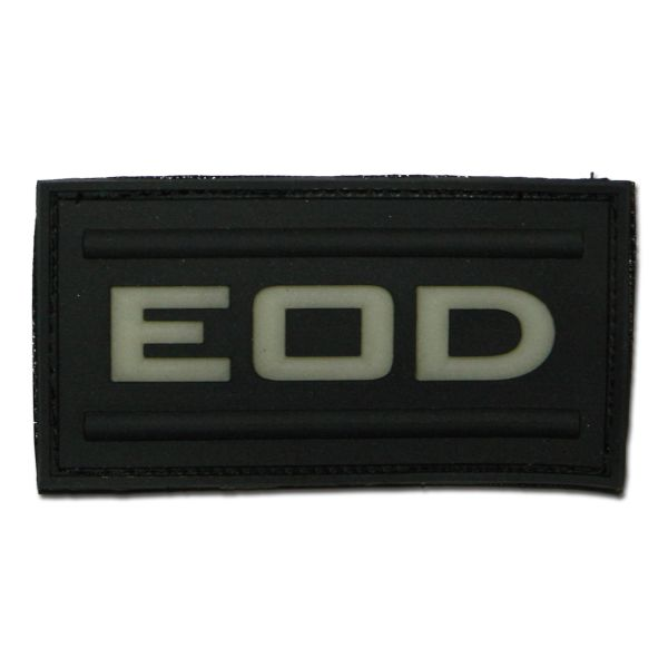 "3D-Patch ""EOD"" noir luminescent"
