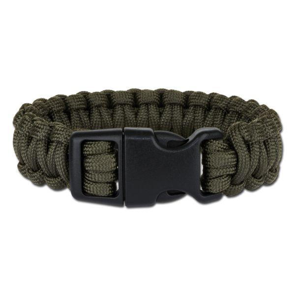 Bracelet Survival Paracord large kaki