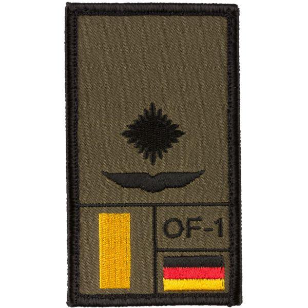 Café Viereck Patch Grade Leutnant Armée de l'Air olive