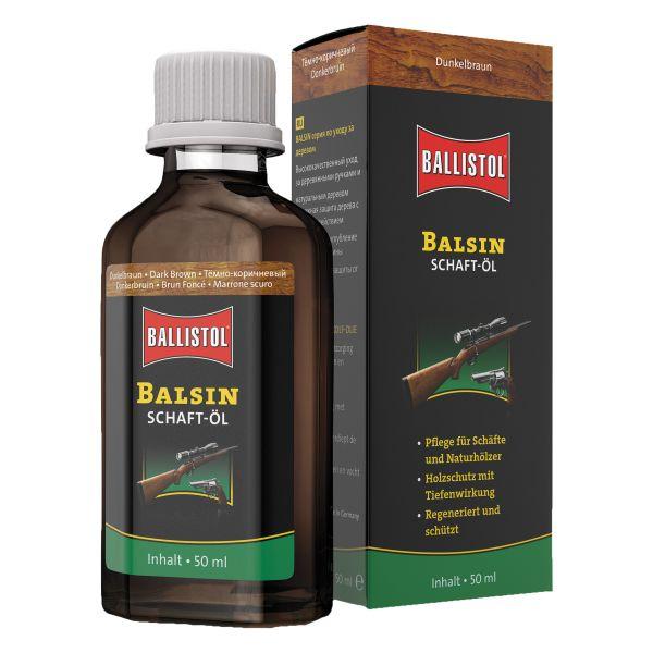 Ballistol Balsin Huile pour Crosse brun foncé 50 ml