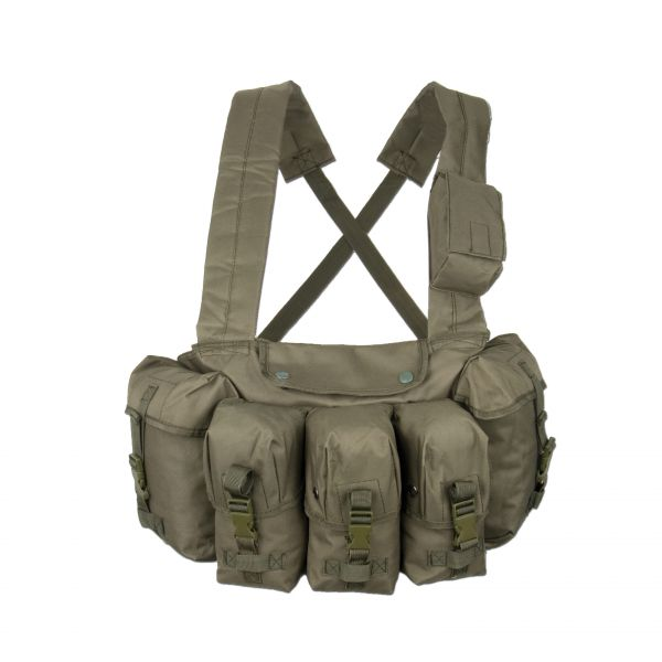 Chest-Rig 6 poches olive