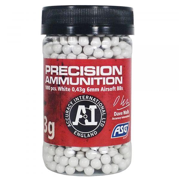 ASG BB Airsoft Precision Ammunition Heavy 0.43g 6mm 1000 billes