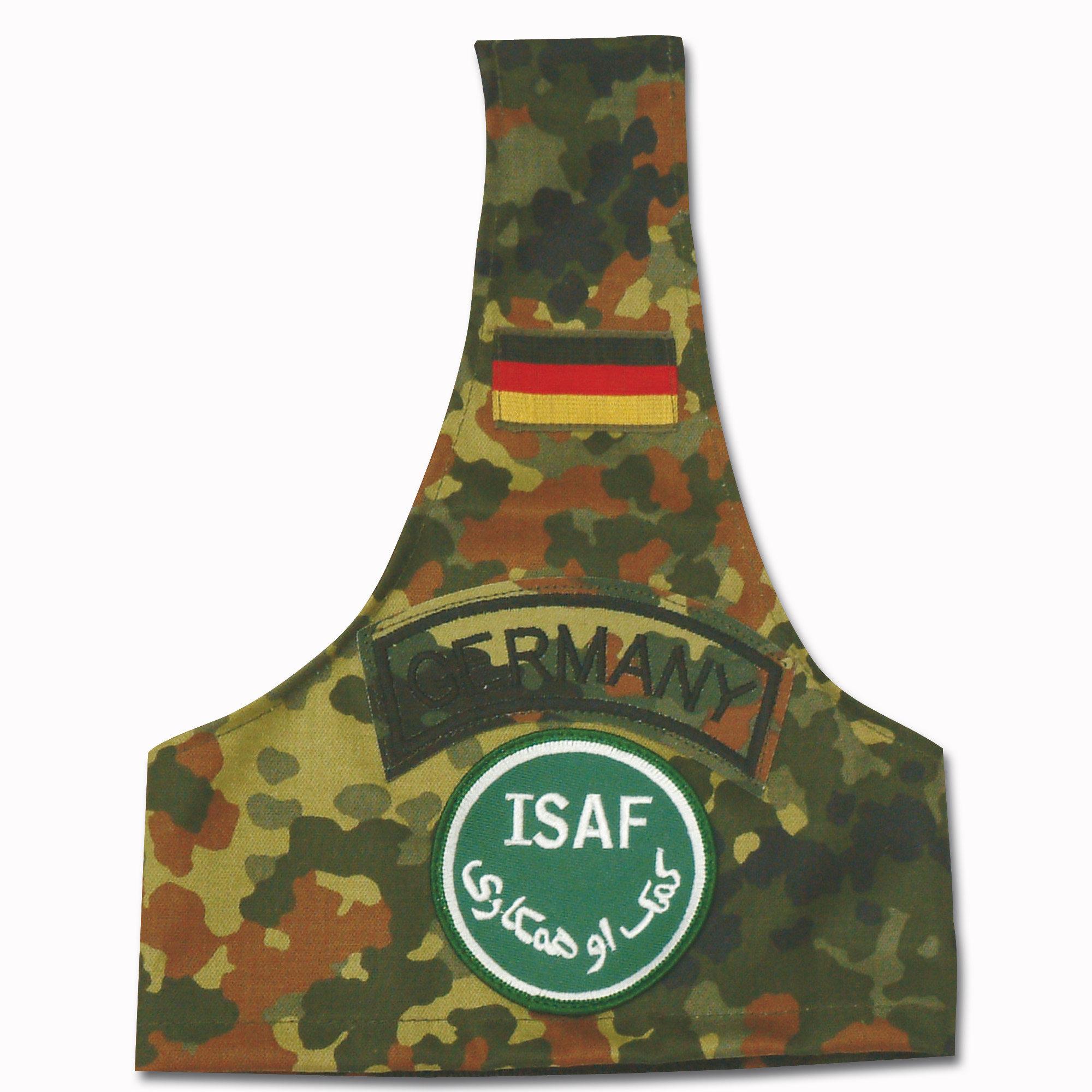 Brassard flecktarn avec insigne ISAF