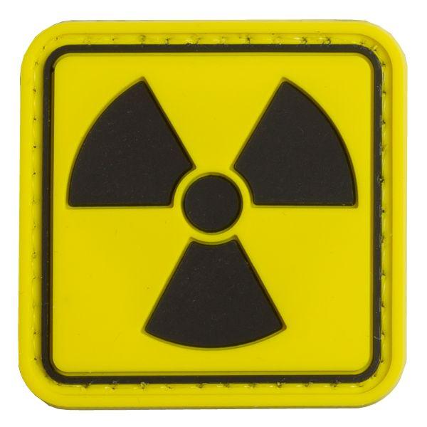 Patch 3D Symbole de la radioactivité TAP couleurs vives