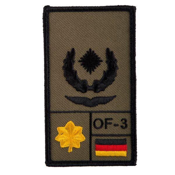 Café Viereck Patch Grade Major Luftwaffe olive