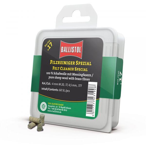 Ballistol Tampon de nettoyage Feutre Spécial Cal. .17 60 Pcs